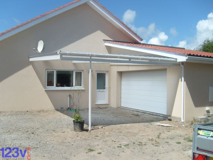 Lean To Carport To Cover Two Cars Double Carport In White Finish With Just One