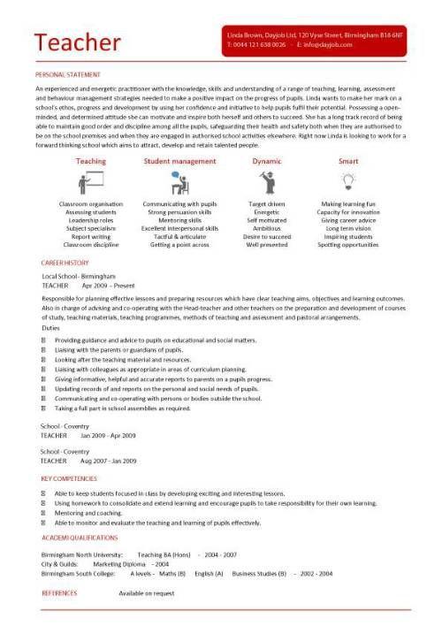30 best teaching resume images on pinterest teacher resume