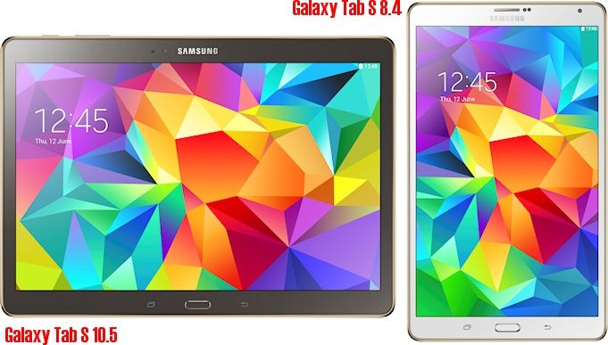 Samsung Galaxy Tab S Range - two new high-end Android tablets