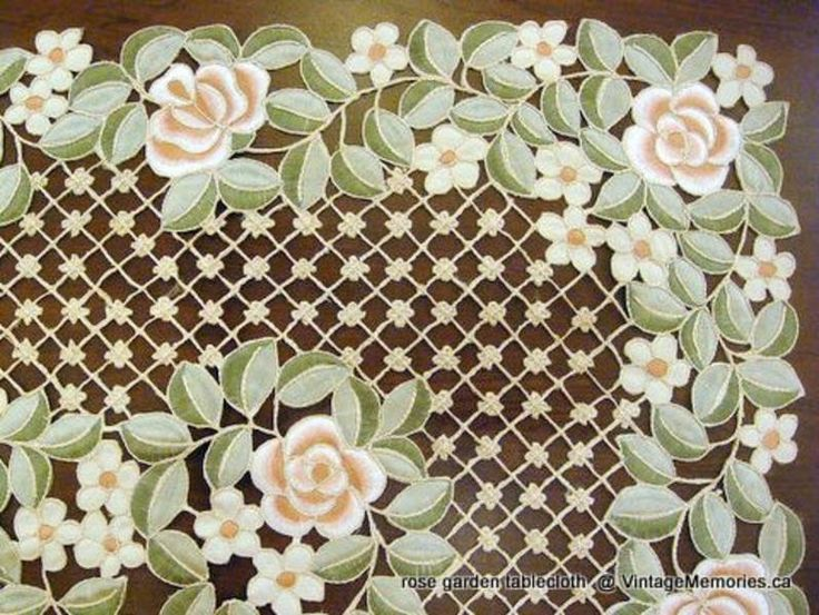 rose garden tablecloth