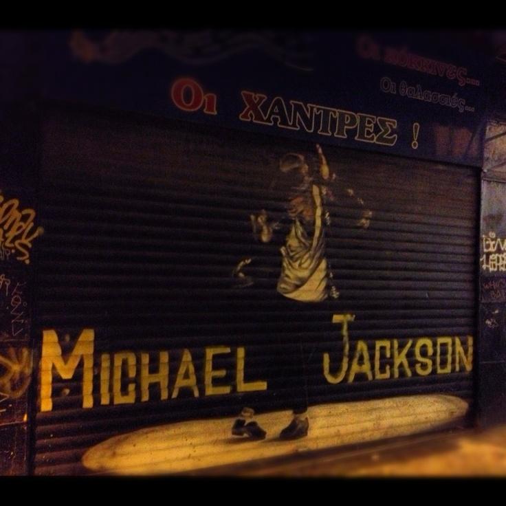 Nightlife Graffiti. The King Of Pop, MJ.