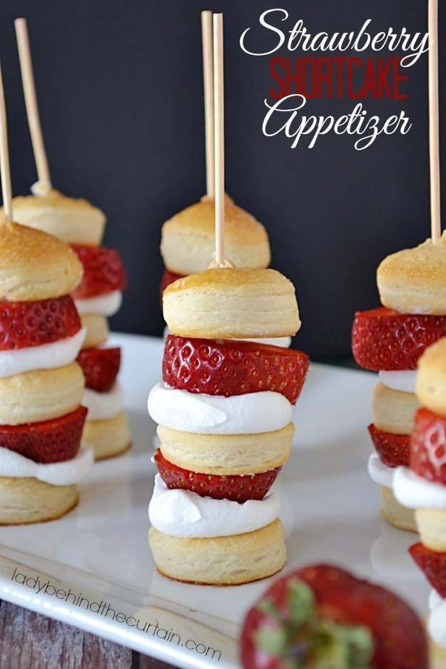 34 Fun Foods for Kids & Teens   Cool and Easy Recipes for Kids & Teenagers to Make At Home   Strawberry Shortcake Appetizer   http://diyprojectsforteens.com/fun-foods-for-teens-kids