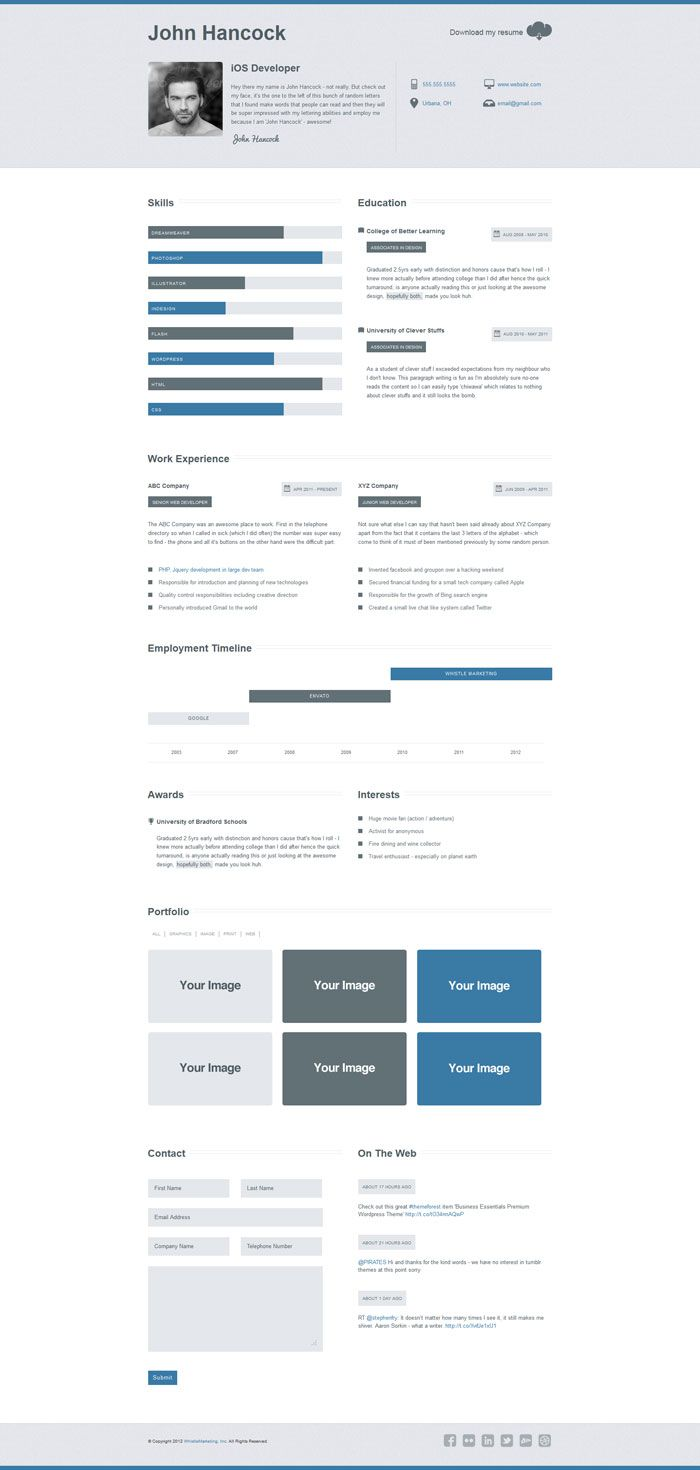 96 best Interesting Resumes images on Pinterest | Resume templates ...
