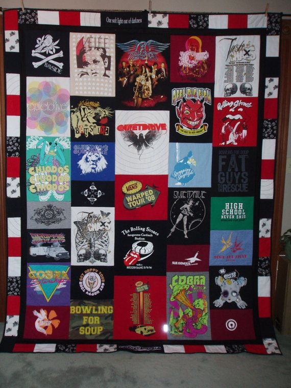 Twin Size Patchwork Style Tshirt Quilt made from your clothes CUSTOM ORDERS. $380.00, via Etsy.