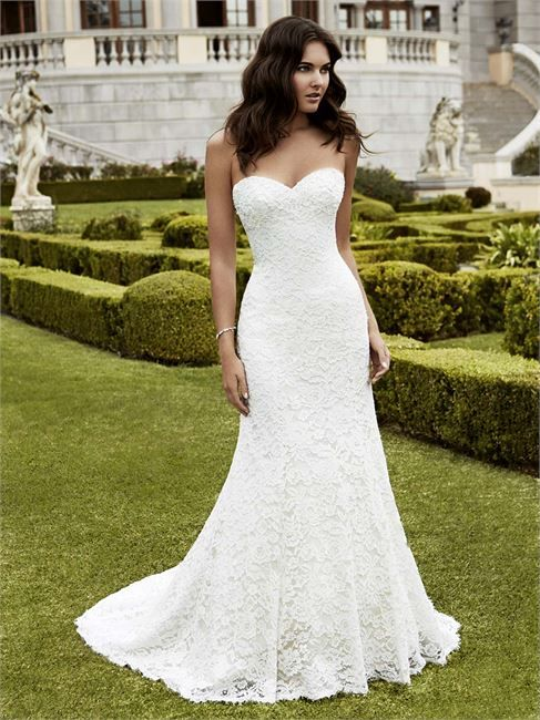 Isparta from Blue By Enzoani is a lace fishtail gown with a sweetheart neckline