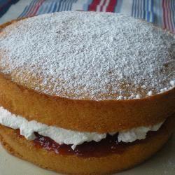 Traditional Victoria sponge recipe - All recipes UK.  Simple elegant dessert that surprisingly isn't to filling.