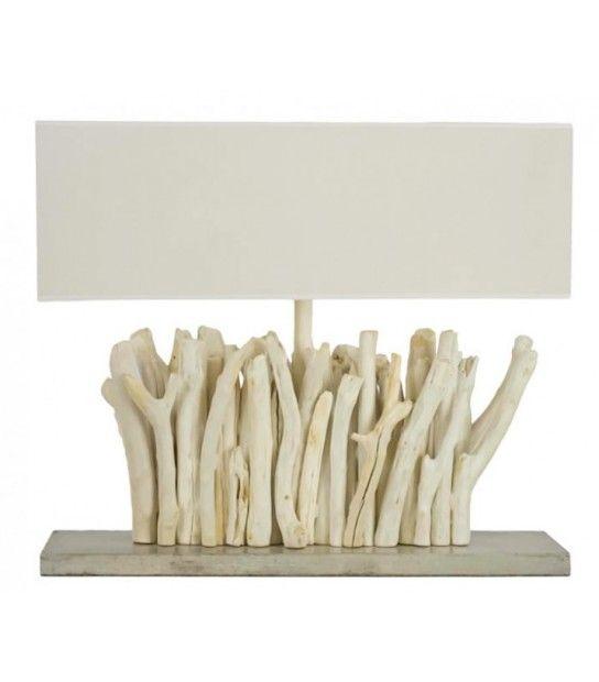 Lampe goa lampe d co bois flott d co maison id e d co for Salon en bois flotte