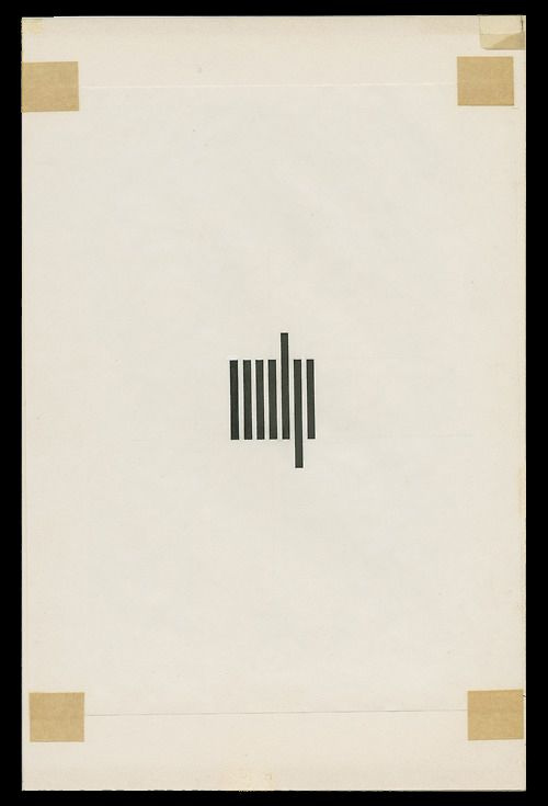 historic 7-bar logo - Muriel Coopers mechanical artwork for the MIT Press colophon