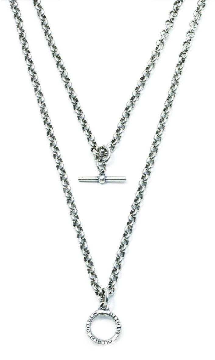 Miglio Jewelry USA - Double strand burnished silver belcher chain, $70.00 (http://www.migliojewelryusa.com/double-strand-burnished-silver-belcher-chain/)