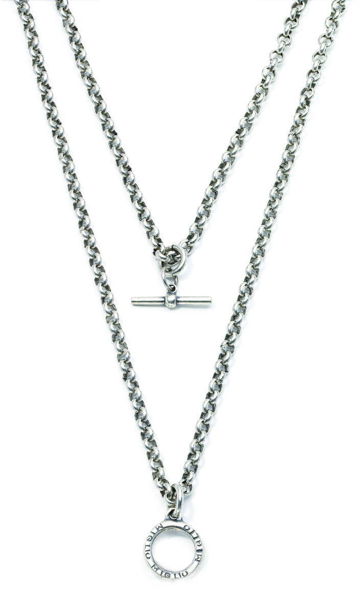 Miglio Jewelry USA - Double strand burnished silver belcher chain, $70.00 (http://www.migliojewelryusa.com/double-strand-burnished-silver-belcher-chain/)