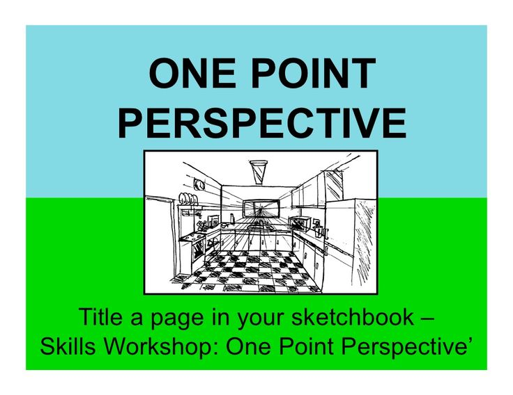 1 & 2-point-perspective by caitlin devendorf via Slideshare