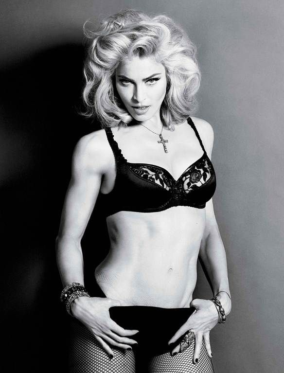 Hey, I need new bras and undies too......I love the lingerie Madonna is wearing here, T.