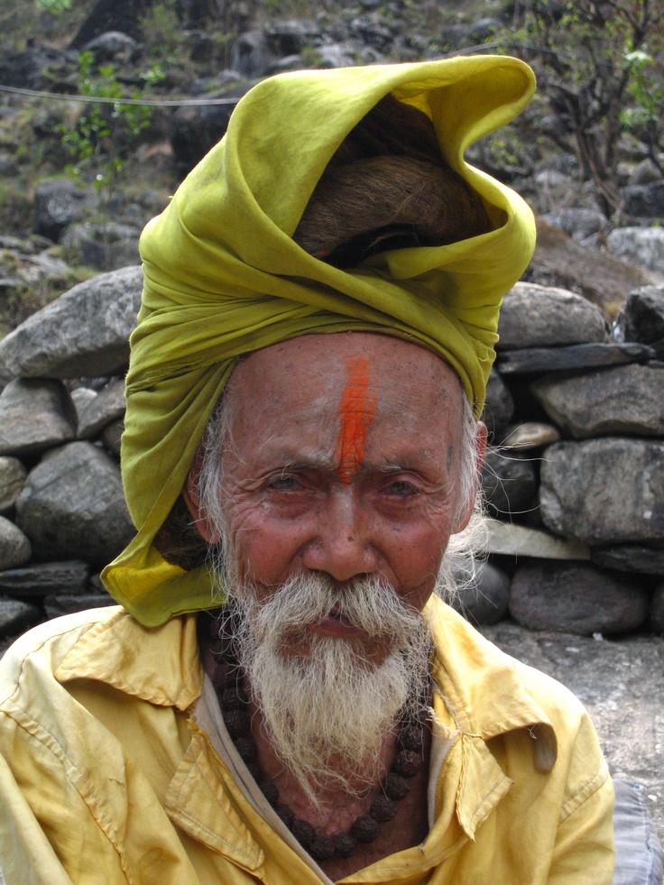A palm reader I ran into as I was trekking through the Himalayas!
