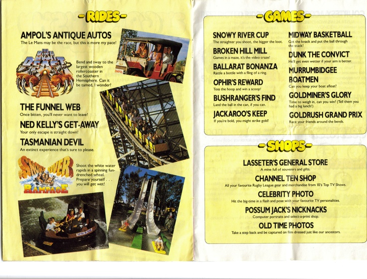 An extract about Goldrush from the 1987 Wonderland map