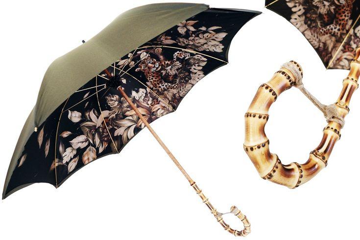 http://www.pasottiombrelli.com/en/animalier-designer-umbrellas/green-umbrella-with-wonderful-interior-and-bamboo-handle-double-cloth/pr-1614