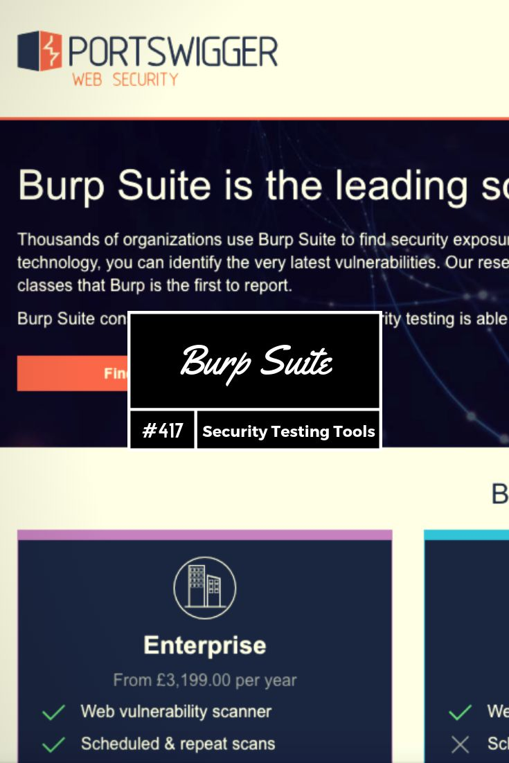 Testing Tool No 417 - Burp Suite is the leading toolkit for