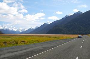 Driving through NewZealand