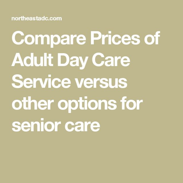 underwriting adult day cares
