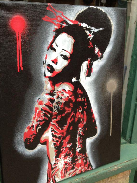 sezy naked geisha art