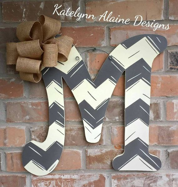 Hey, I found this really awesome Etsy listing at https://www.etsy.com/listing/241006654/18-hand-painted-chevron-wooden-letter