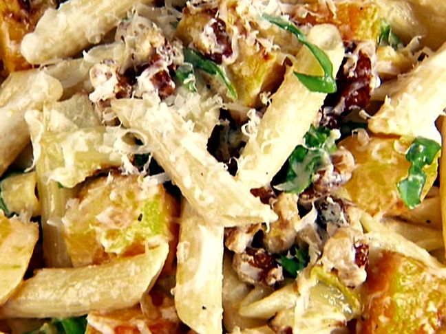 Penne with Butternut Squash and Goat Cheese from FoodNetwork.com
