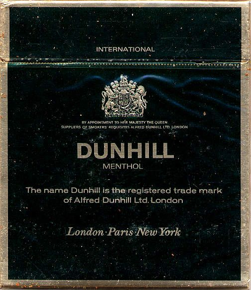 One week no cigarettes Dunhill