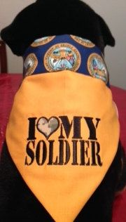 Military US Army Dog Reversible Bandana by ButterfliesnDreams, $14.50