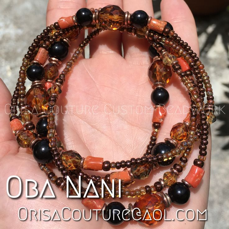 Ileke Oba Nani For inquires, please send an email to OrisaCouture@aol.com #ileke #oba #obanani #obba #obbanani #orisa #orisha #lukumi #santeria #yoruba #orisacouture