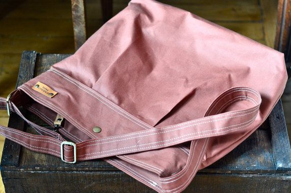WATERPROOF CANVAS Messenger bag  //  TOTE / Diaper bag by ikabags