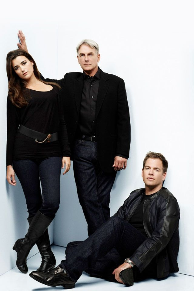 NCIS Season 6 DVD Photo Shoot ~ Cote de Pablo as Ziva David, Mark Harmon as Leroy Jethro Gibbs and Michael Weatherly as Tony DiNozzo.