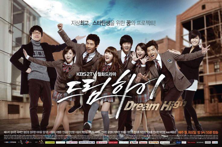 Xuất hiện trên sóng YANTV vào 11h30 Thứ 7 – Chủ Nhật hàng tuần sẽ là bộ phim âm nhạc từng gây bão Dream High với dàn sao trẻ Hàn Quốc như Kim Soo Hyun, Suzy (Miss A), IU, Taecyeon và Woo Young (2PM), Eun Jung (T-ara). Mang sắc màu trẻ trung và tính nhân văn cao đẹp, Dream High đề cao niềm đam mê cháy bỏng của các bạn trẻ đối với âm nhạc và hành trình vượt qua khó khăn, thử thách để đạt đến ước mơ của bản thân mình.: K Dramas, Dreams High, Korean Dramas, Art, Favorite Korean, Posters, High Schools, Asian Dramas, Kdrama