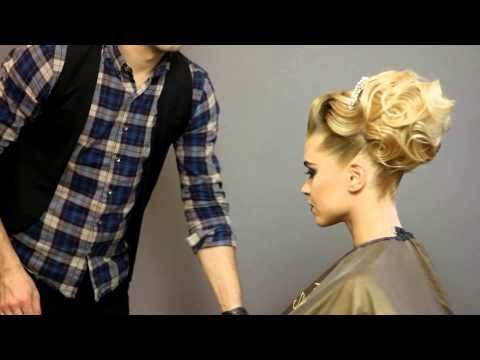 Evening hairstyle long hair with curls parikmaxer tv english version - YouTube