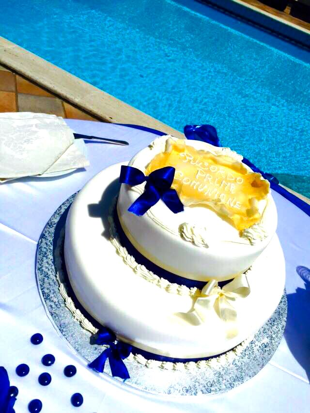 cake in blu