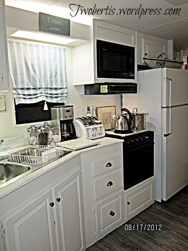132 best images about mobile home on pinterest for Mobile home kitchen makeover ideas