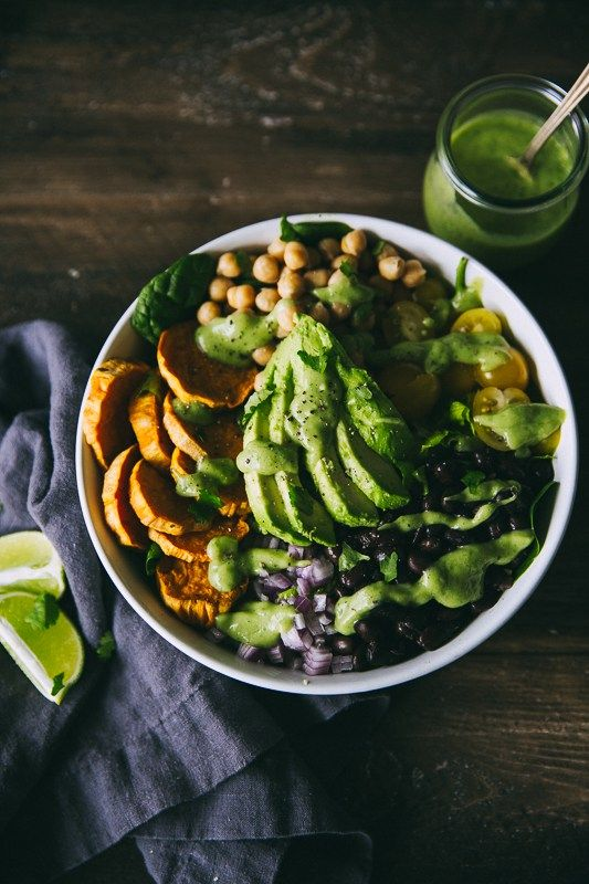 Southwestern Salad with Avocado Cilantro Lime Dressing | The Blonde Chef