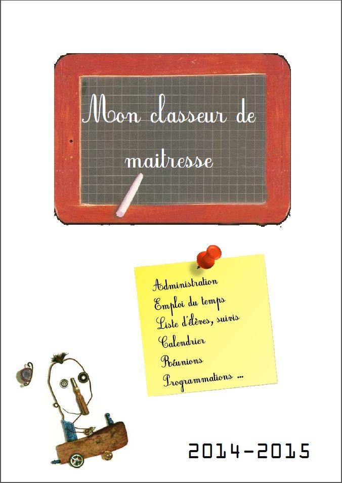 Cahier de la maitresse - Maritulipe à l'école