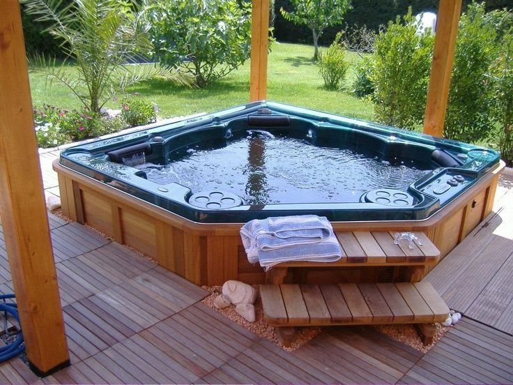 5 seater built in corner hot tub homes luxury pinterest gardens beautiful and health. Black Bedroom Furniture Sets. Home Design Ideas