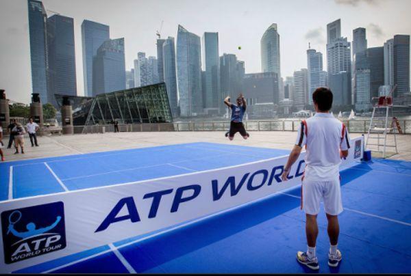 Kei Nishikori and Janko Tipsarevic in Singapore