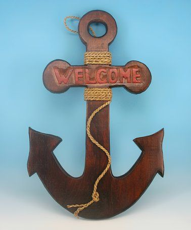 Love this 'Welcome' Anchor Wall Art on #zulily! #zulilyfinds