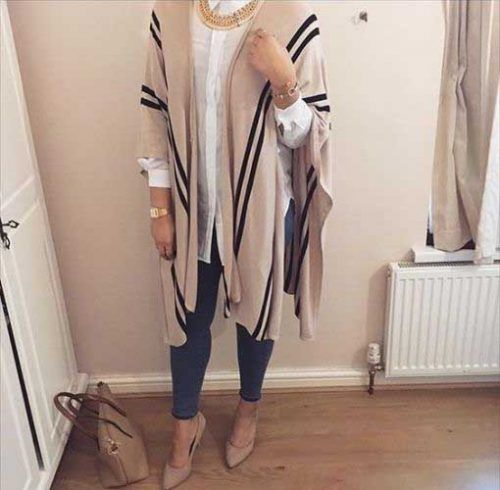 poncho-with-hijab-outfit- Ootd hijab styles http://www.justtrendygirls.com/ootd-hijab-styles/