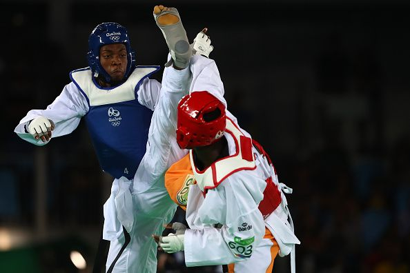 Team GB's Lutalo Muhammad going for an Olympic medal at Rio 2016