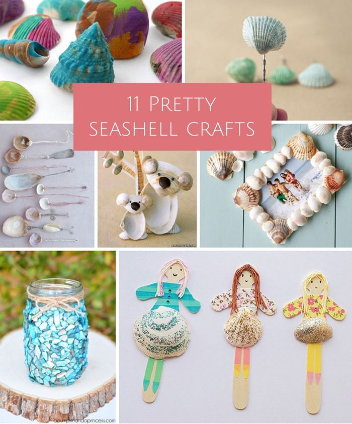 Pretty seashell crafts fun for kids and adults!