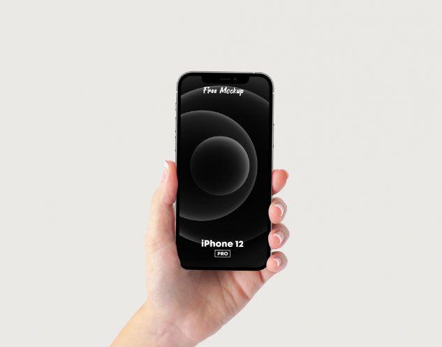 Iphone 12 Pro In Hand Free Psd Mockup Mockup Free Psd Free Mockup Mockup