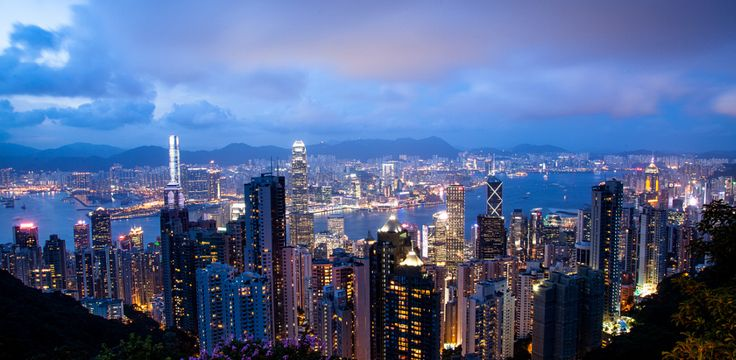 Hong Kong covered in Night by Bryan Rubin