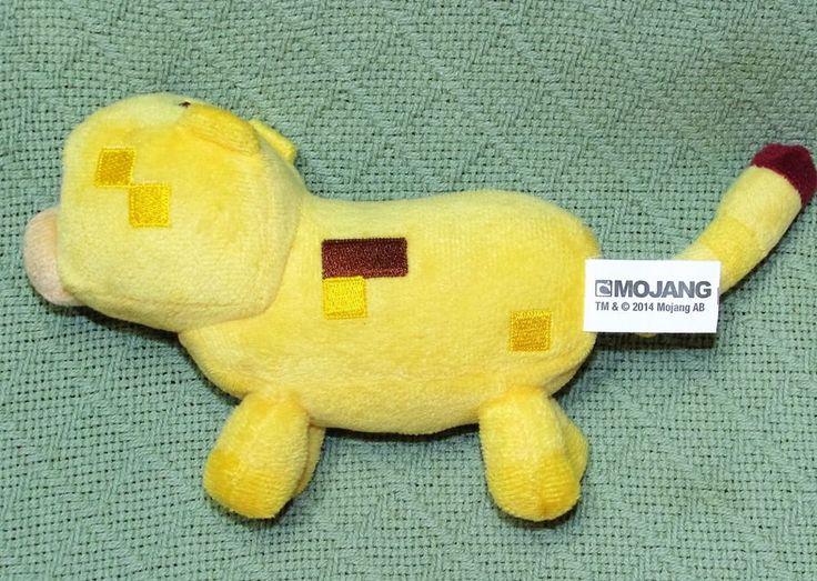 "2014 MOJANG Minecraft Overworld YELLOW Pig Plush Stuffed 7"" Game Character Toy #Mojang"