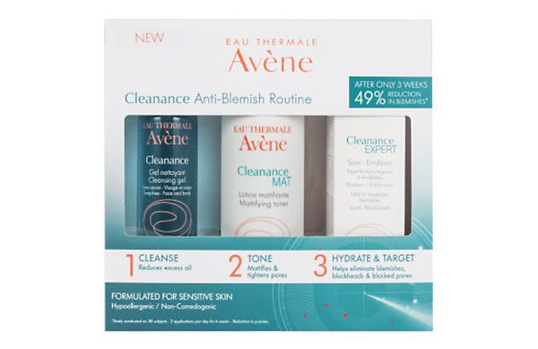 Win the battle against breakouts with the new Cleanance Anti-Blemish Kit from Avene.