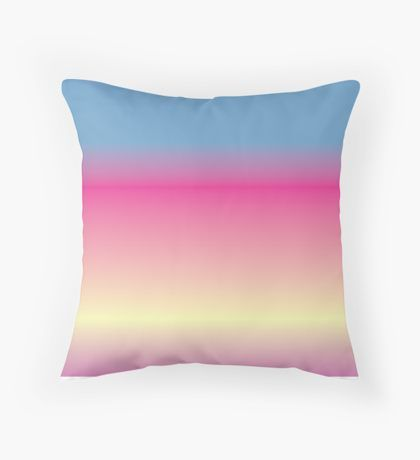 Blended Blue & Pink & Yellow Throw Pillow