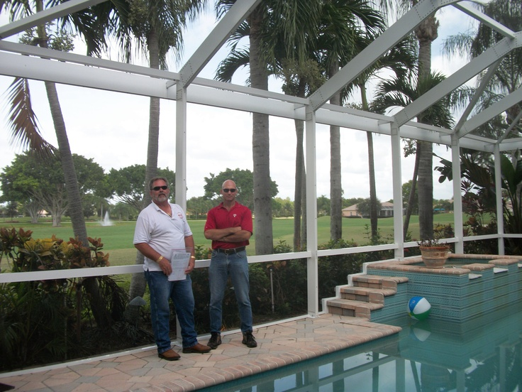 New pool screen enclosure designed by engineer steven for Pool design engineering