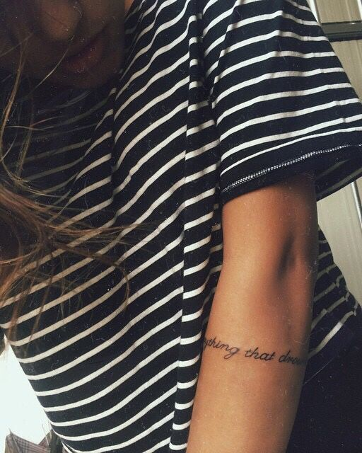 Image result for text wrap around arm tattoo