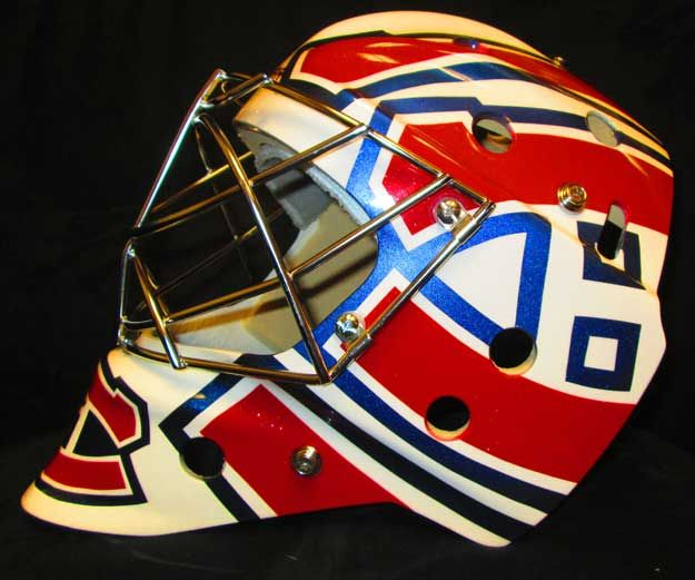 New mask design for Carey Price. Retro graphics! By @eyecandyair #carey #price #canadiens #mask